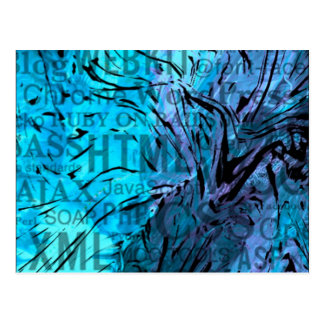made of words,computer blue postcard