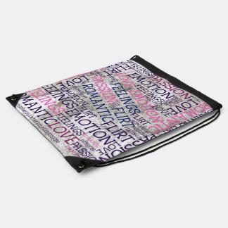 made of words,great fellings drawstring bag