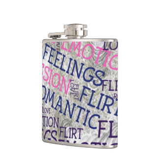 made of words,great fellings hip flask