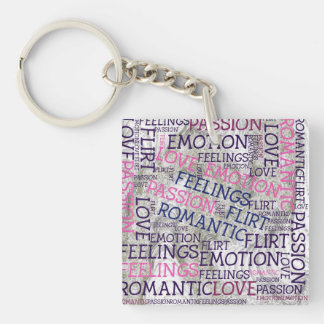 made of words,great fellings keychain