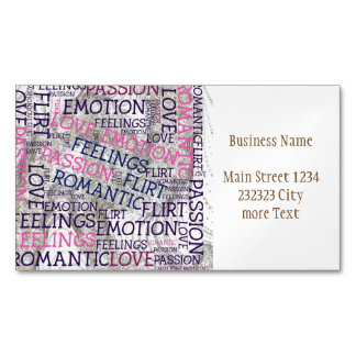 made of words,great fellings Magnetic business card