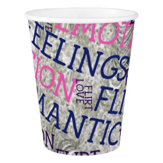 made of words,great fellings paper cup