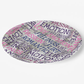 made of words,great fellings paper plate