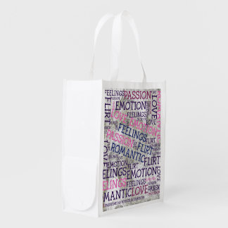 made of words,great fellings reusable grocery bag