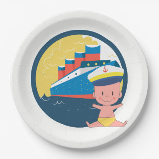 Made While on a Cruise Baby Shower 2 Paper Plate