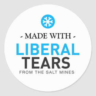 Made with Liberal Tears Snowflakes MAGA 20xsticker Classic Round Sticker