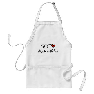 Made with love baking and cooking apron for women