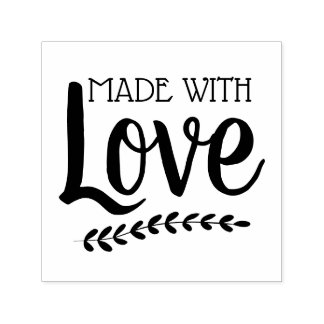 Made with Love Botanical Sprig Self-inking Stamp