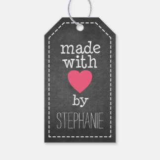 Made With Love By You - chalkboard Gift Tags