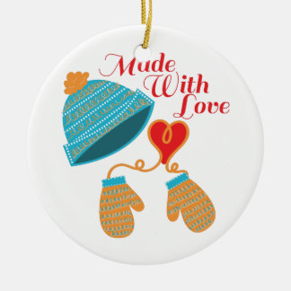 Made With Love Ceramic Ornament
