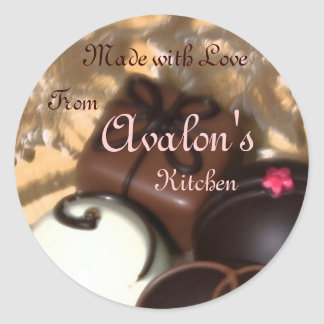 Made with Love Chocolates Baking Label Sticker