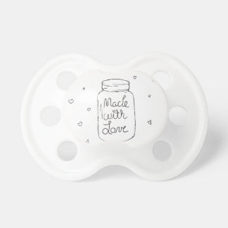 Made with Love Doodle Baby Pacifiers
