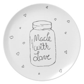 Made with Love Doodle Plate