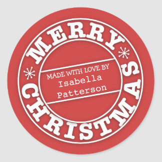 Made with Love From Merry Christmas Sticker
