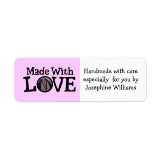 Made with Love - Handmade Gift Tag Custom Return Address Labels