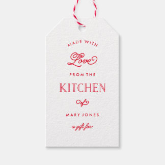 Made With Love in Red | Gift Tags