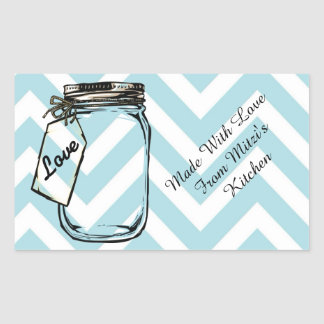 Made with love mason jar sticker