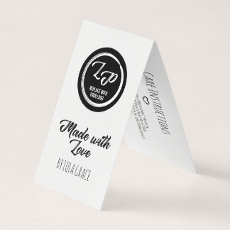 Made with Love Your Logo Hang Tag