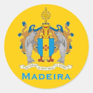 Madeira Flag Round Sticker