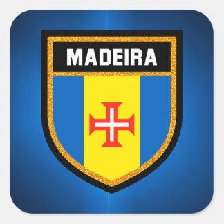 Madeira  Flag Square Sticker