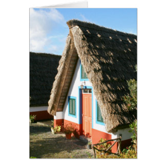 Madeira Island typical houses, Portugal Greeting Card