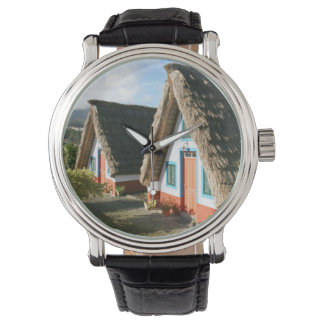Madeira Island typical houses, Portugal Wrist Watches