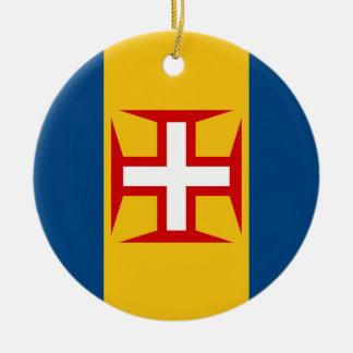Madeira (Portugal) Flag Ceramic Ornament