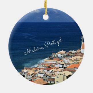 Madeira, Portugal landscape photograph Ceramic Ornament