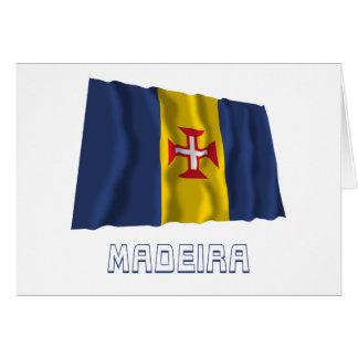 Madeira Waving Flag with Name Greeting Card