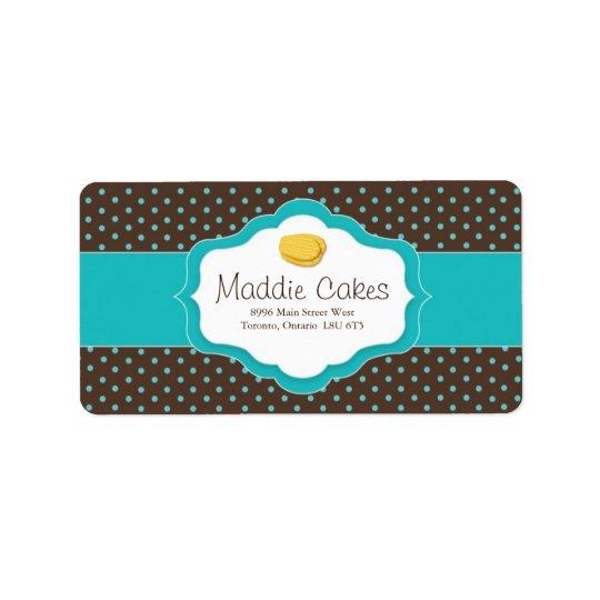 Madeleine Cookies Address Labels