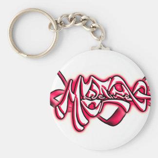 Madeline start basic round button keychain