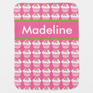 Madeline's Personalized Cupcake Blanket