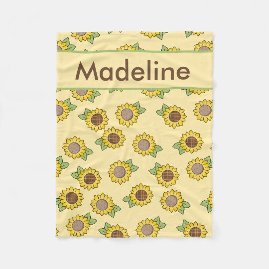 Madeline''s Personalized Sunflower Blanket