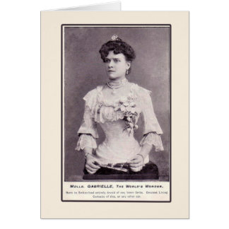Mademoiselle Gabrielle The Half-Woman, on Cards