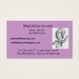 madhatter, Mad Hatter Crochet, Unique Designs B... Business Card