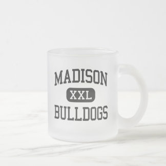 Madison - Bulldogs - High School - Madison Kansas Frosted Glass Coffee Mug