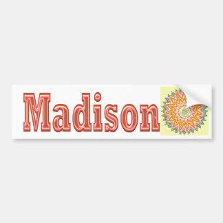 MADISON - cadeaux élégants à n de Madison Autocollant De Voiture
