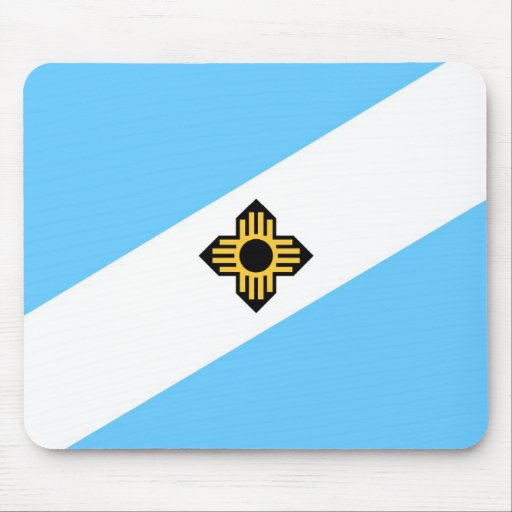 Madison city flag  Wisconsin state America country Mousepad