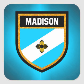Madison Flag Square Sticker