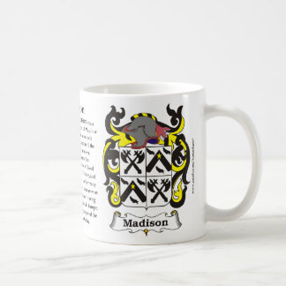 Madison, Origin, Meaning and the Crest Coffee Mug