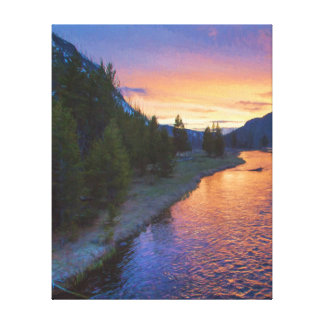 Madison River Sunset Canvas Print