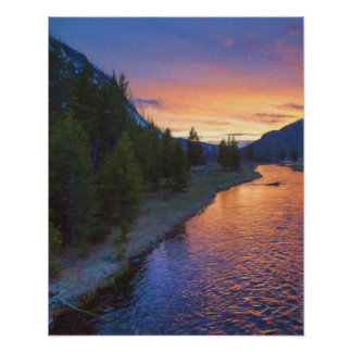 Madison River Sunset Poster