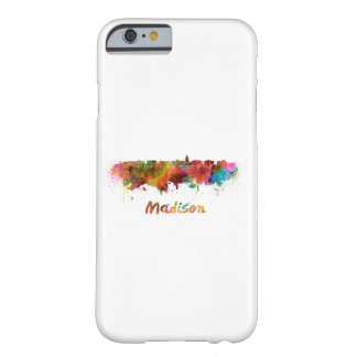 Madison skyline in watercolor barely there iPhone 6 case