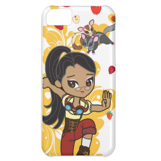 Madison the Steampunk Cartoon Girl & Sugar Gliders Cover For iPhone 5C