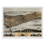 Madison, WI Panoramic Map - 1867 Poster
