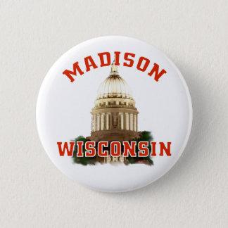 Madison,Wisconsin 2 Inch Round Button