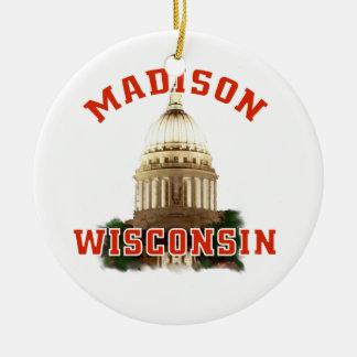 Madison,Wisconsin Ceramic Ornament