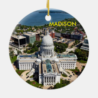 Madison Wisconsin Circle Ornament