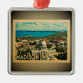 Madison Wisconsin Ornament Vintage Travel