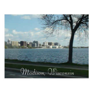 Madison Wisconsin Photograph Capitol Postcard